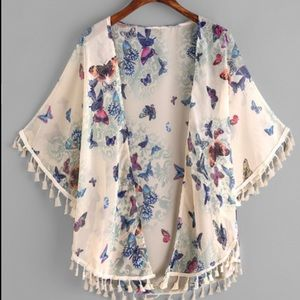 Tops - Butterfly Boho Kimono